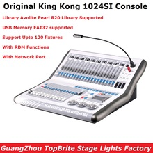 Dj Equipment King Kong 1024SI DMX Controller Moving Head Lighting Console DMX512 Professional Stage Lights Controller Flightcase тет а тет