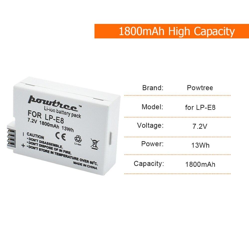 Digital Batterien 2 Pcs 1800 Mah Lp-e8 Lpe8 Lp E8 Batterie Batterie Akku Lcd Dual Ladegerät Für Canon Eos 550d 600d 650d 700d X4 X5 X6i X7i T2i T3i