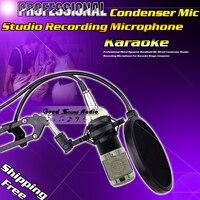 Professional Wired Dynamic BM800 Condenser Microphone For Computer Music Create Karaoke Studio Recording Mic Microfone Microfono