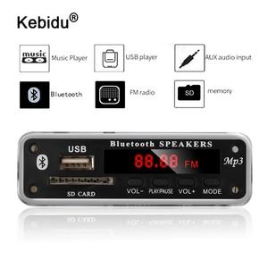 Image 1 - Kebidu 5V 12V DC SD FM 라디오 오디오 MP3 플레이어 AUX 3.5MM MP3 모듈 디코더 보드 자동차 원격 음악 스피커에 대 한 USB 전원 공급 장치