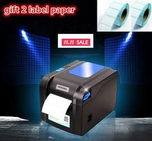 Новинка 2016 Gift2 этикетки бумажные + 370B принтер этикеток одежда теги супермаркет принтер цена наклейки Поддержка для печати 22-80 мм widh