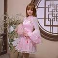 Принцесса sweet lolita dress Candy rain оригинальный 2016 новый весенний ветер модифицированного марли шифон dress, cheongsam C16AB6014