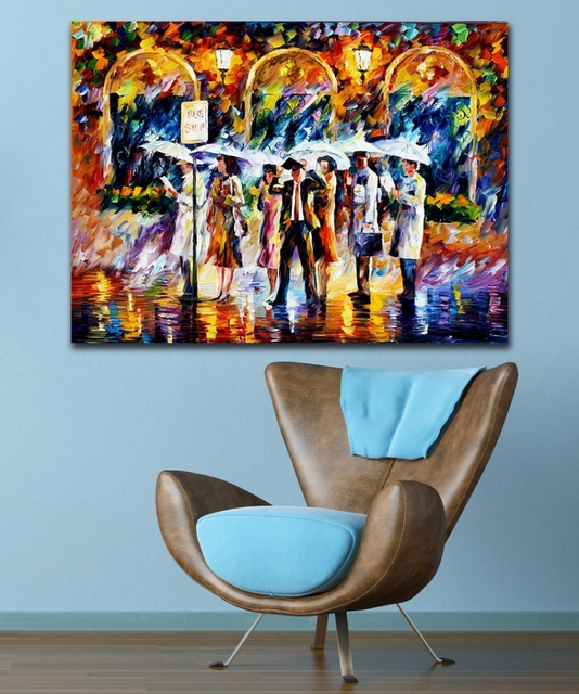 100% Hand Painted Color Palette Picture Daily Life Describe Canvas Oil  Paintings For Home Office