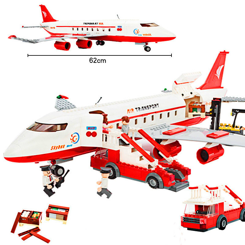 GUDI Block City Large Passenger Plane Airplane Block 856+pcs Bricks Assembly Boys Building Blocks Educational Toys For Children gudi blocks city air plane building blocks international airport compatible legoinglys block educational toys for children gift