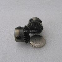 Engranaje cónico un par 1 M 25 T Mod 1 Módulo ratio 1:1 Bore 8mm rectángulo para la transmisión en ángulo recto de acero Industria de piezas de robot DIY