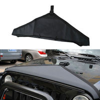 I Pc Black Denim Hood Bra Front End Cover Triangle Fit For Jeep 97 06 TJ