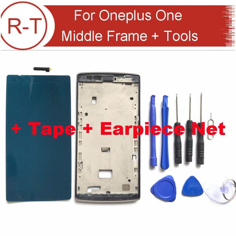 Para oneplus one frame lcd a estrenar lcd marco medio asamblea reemplazo para on