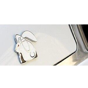 """Image 4 - 3D Металлическая Автомобильная наклейка с эмблемой """"Бегущий кролик"""", значок заднего багажника для VW Jetta Golf GTI Polo, универсальные автомобильные аксессуары, украшение автомобиля"""
