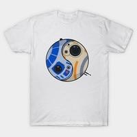 2017 Newest Creative Yin Yang Droid Star Wars Printing T Shirt Hipster Funny T Shirt Boy