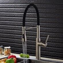 Бесплатная доставка Европейский жизни матовый кухонный кран с твердыми Латунь Кухня Раковина кран по на бортике Кухня водопроводный кран