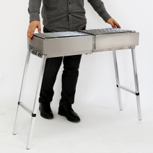 Stainless Steel Home or Outdoor BBQ Grill Folding Large Barbecue