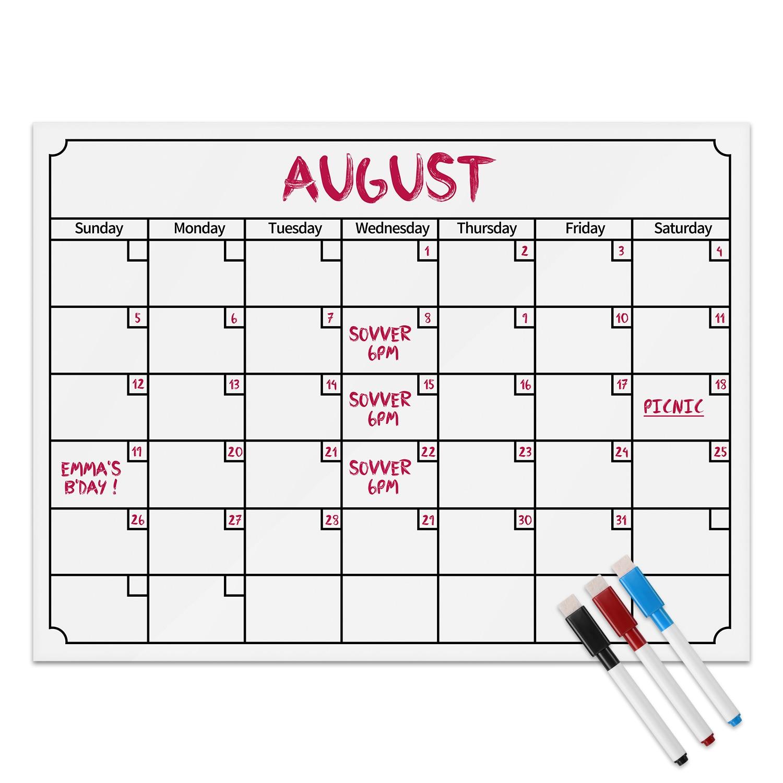 Secret Garden: 2018 Refrigerator Calendar Monthly Weekly Planner Note