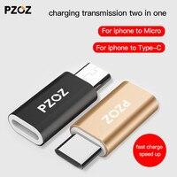 PZOZ para iPhone de tipo C adaptador para mi cro convertidor de cable usb de carga para Xiaomi Redmi 5 Plus 4x mi 8 A1 6 x oneplus usb-c OTG