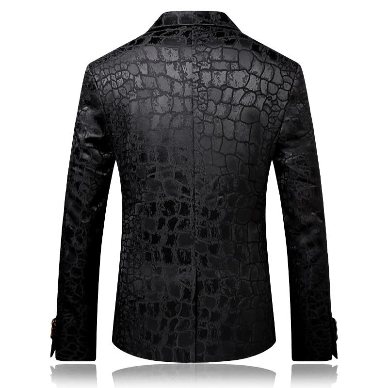 vari colori Guantity limitata stile alla moda US $65.99 30% di SCONTO|Elegante Modello Del Coccodrillo Giacca Uomo Nero  Slim Fit Costume DJ Homme Ricamato Vestito Da Partito Moda Uomo Blazer ...