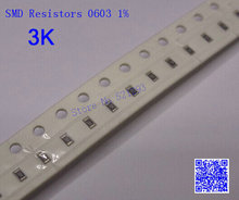 SMD Resistors 0603 3K 3 K ohm 1/10W 1% Chip Resistors