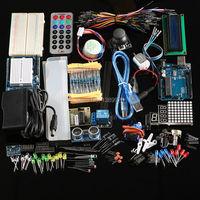 Free Shipping Ultimate Kit Hc Sr04 Ultrasonic Sensor Step Motor Servo 1602 LCD UNO R3 Starter