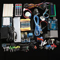 Envío Gratuito Ultimate kit Sensor Ultrasónico Hc-sr04/Del Motor de Paso/Servo/1602 LCD/UNO R3 starter Kit con la caja Al Por Menor