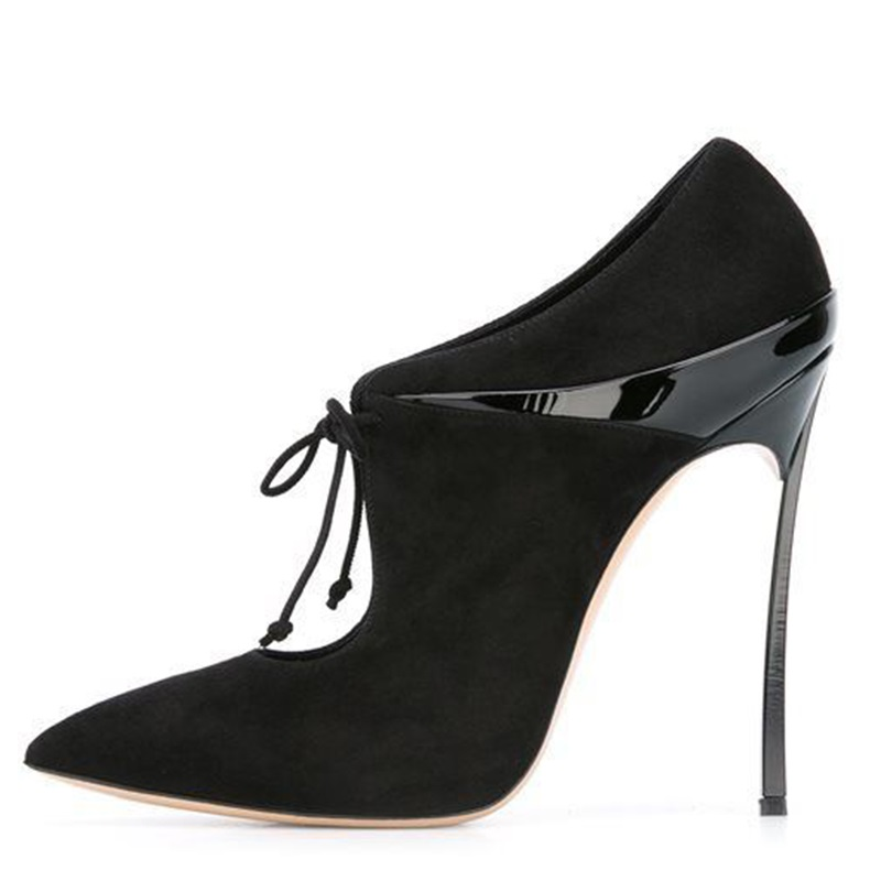 Newest Flock Black High Heel Pumps Woman Waterproof Platform Cross-tied Pointed Toe Autumn European American Dress Party Shoes fashion sexy newest flock cross tied