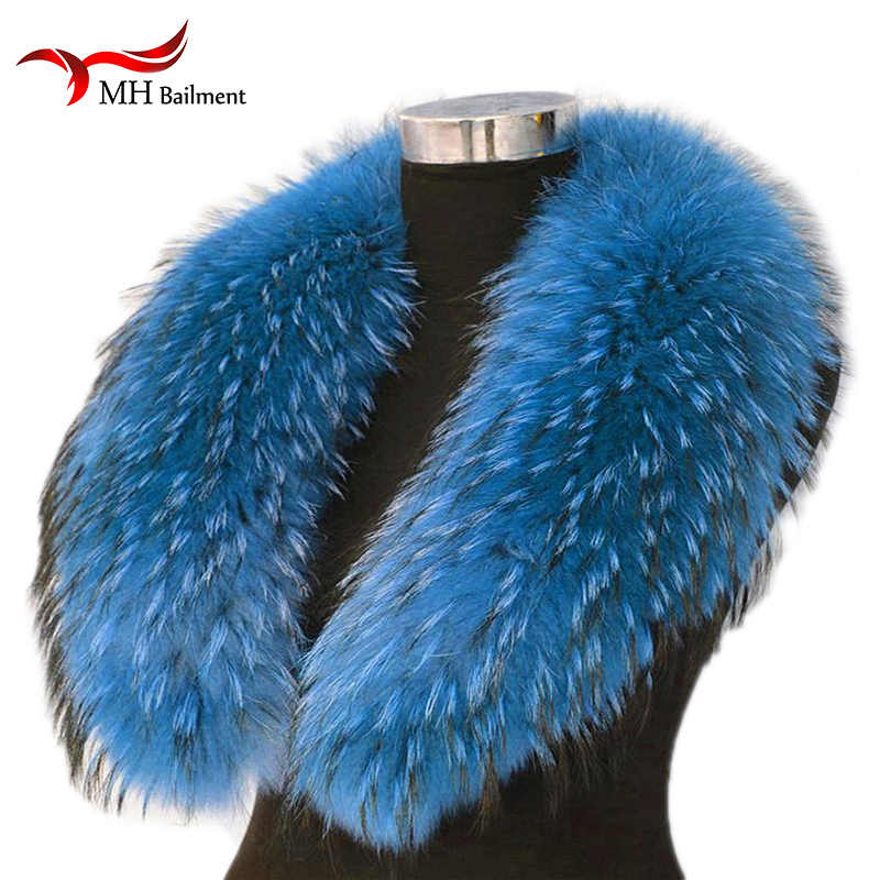 New Womens Real Genuine Raccoon Fur Collar Scarf//Shawl//Wrap Neck For Sweater