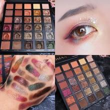 30 Colors EyeShadow Pallete Pigment Shimmer Matte Glitter Eyeshadow Palette Smoky Metallic Diamond Eye Shadow Palette Cosmetic цены