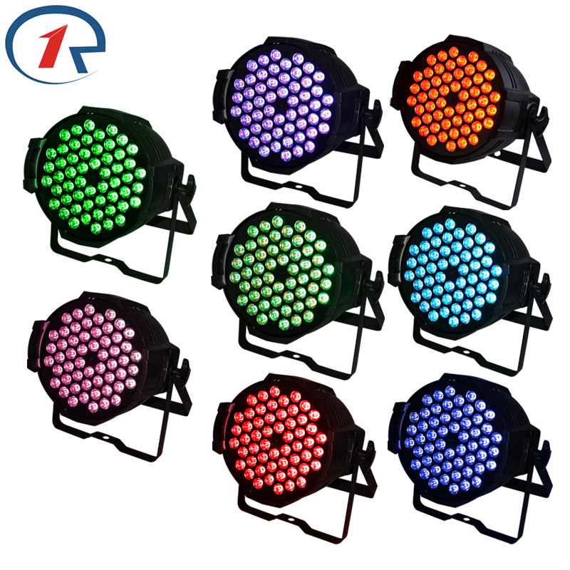 ZjRight 8pcs/lot 90W RGB 54 LED Par light DMX512 Sound control profession LED stage light for Music concert bar dj disco light zjright 90w rgb fullcolor 54 led par light dmx512 concert decor lights sound control pro stage party dj holiday ktv disco light