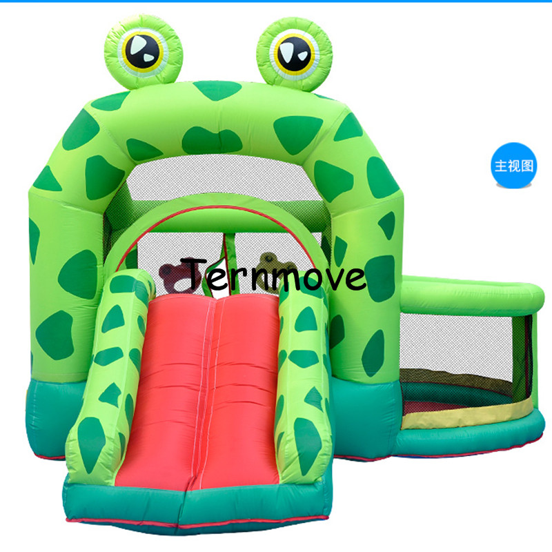 Home Used Bounce House with Blower Jump 'n Slide Bouncer jumper for frog,Kids Bouncy Castle Backyard Playing Trampoline spiderman backyard kids mini nylon bounce house inflatable bouncer bouncy castle jumping castle with slide and blower for home u