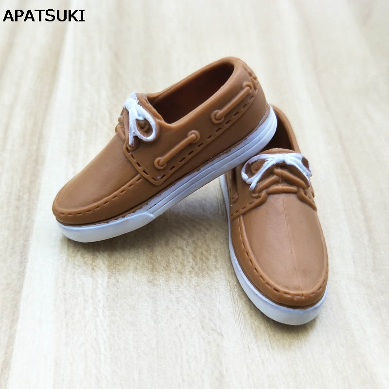 Brown Fashion Doll Shoes Casual Shoes For Ken Male Dolls Accessories Shoes For Barbie Boyfriend Prince Ken 1/6 Men Doll