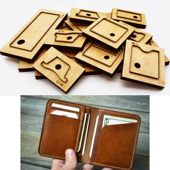 DIY leather craft eenvoudige kaarthouder kleine portemonnee mes schimmel stansmessen hand machine punch tool patroon 120x95mm