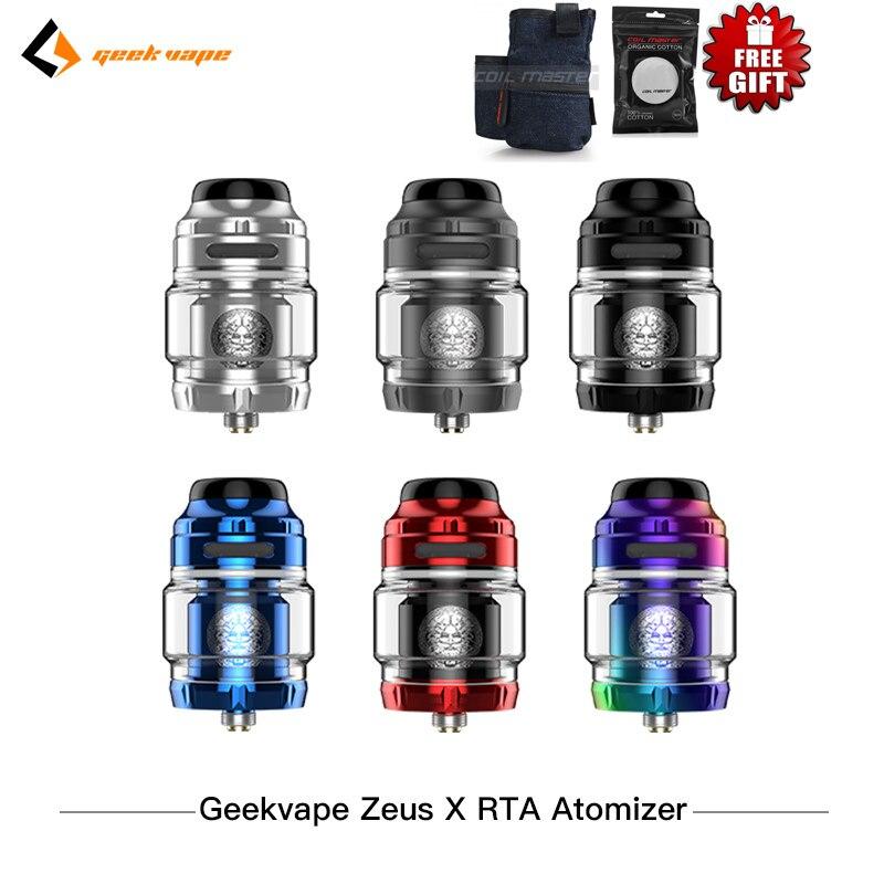 Original Geekvape Zeus X RTA 4 5ml Vape tank with 810 Delrin drip tip Electronic cigarette
