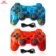 лучшая цена 2Pcs Wireless Double Shock Gamepad joystick джойстик for Playstation 3 Remote Sixaxis for PS3 Controller dualshock 4 gamepad