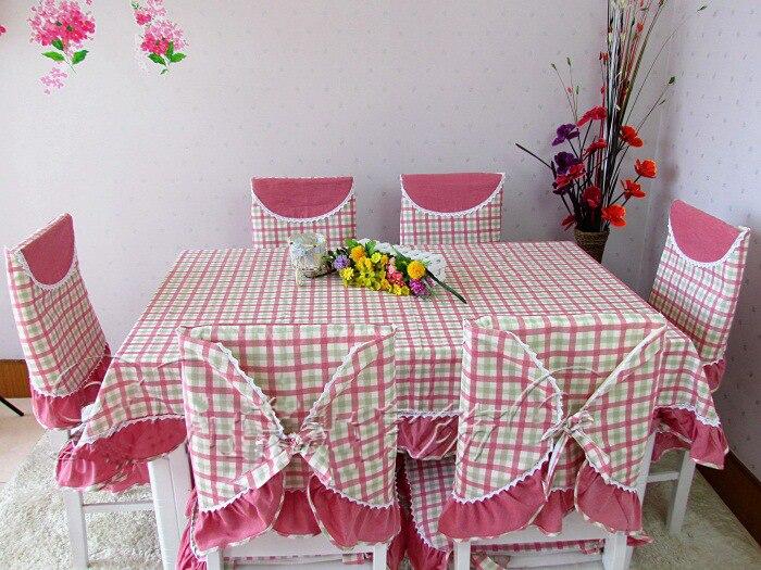 R stica mesa de comedor a cuadros rojo mantel mesa redonda for Tela para manteles de mesa