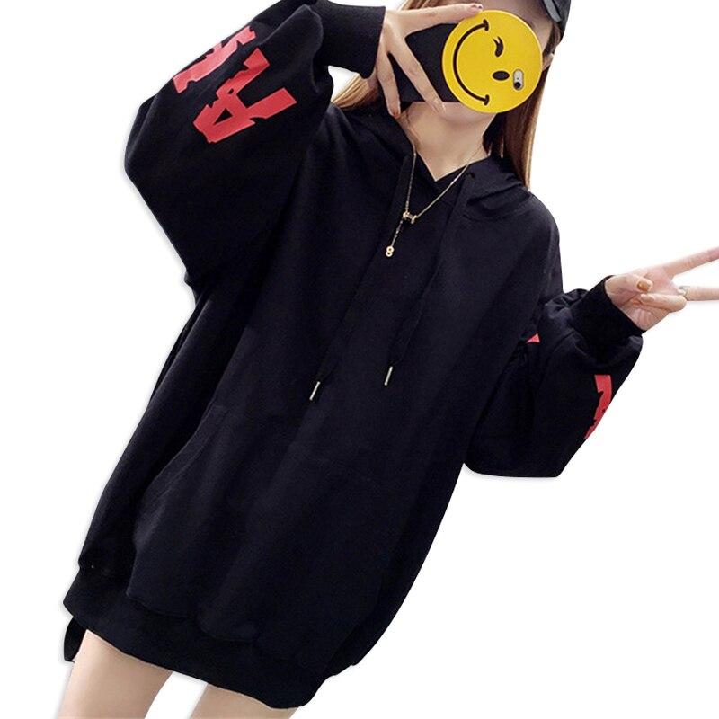 Women Casual Loose Large Size Women's Top Printing Letters Hooded Sweatshirt Trend Streetwear Hot New Thin Hoodies