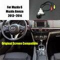 Thehotcakes Cámara de Visión Trasera Para Mazda 6 Mazda6/Mazda Atenza 2013 ~ 2014 Original Pantalla Compatible Copia de seguridad Cámara de marcha atrás
