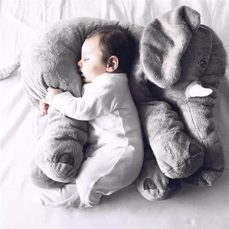Baby Small Pillow Head Protection Pillow Bedding Baby Elephant Pillows Toddler Sleep Soft Plush Stuffed Animals Toys Sleeping