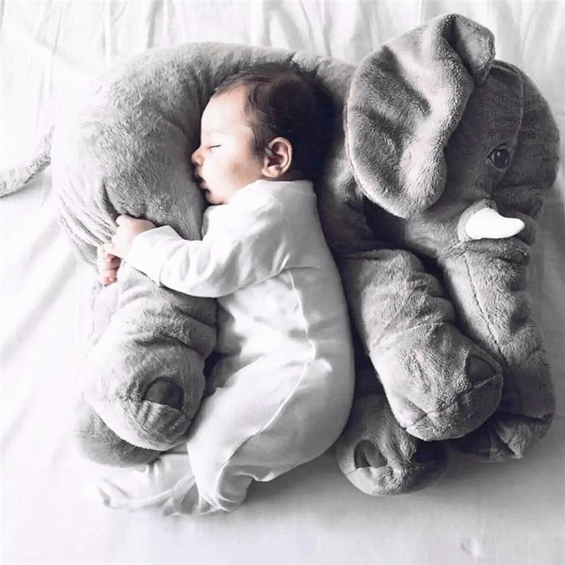 Baby Small Pillow Head Protection Pillow Bedding Baby Elephant Pillows Toddler Sleep Soft Plush Stuffed Animals Toys Sleeping