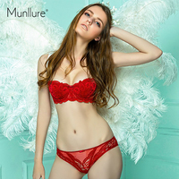 Munllure lace Cup thin white lace sexy temptation married bra set cup bra young girl bra set