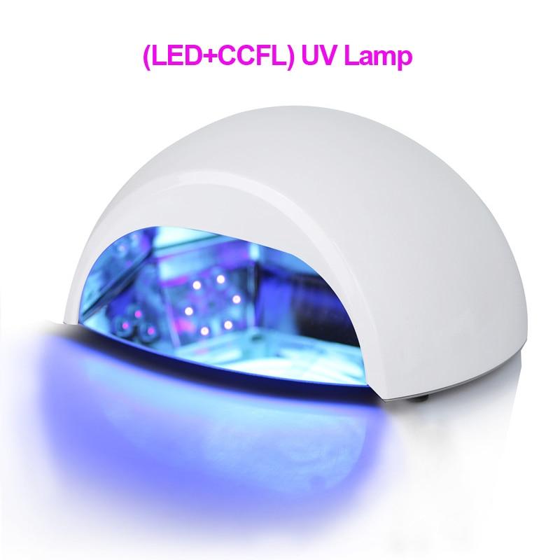 Professionell 100-240V (LED + CCFL) Nail UV-lampa Polsk nageltorkare Mycket snabbhärdande nagelverktyg
