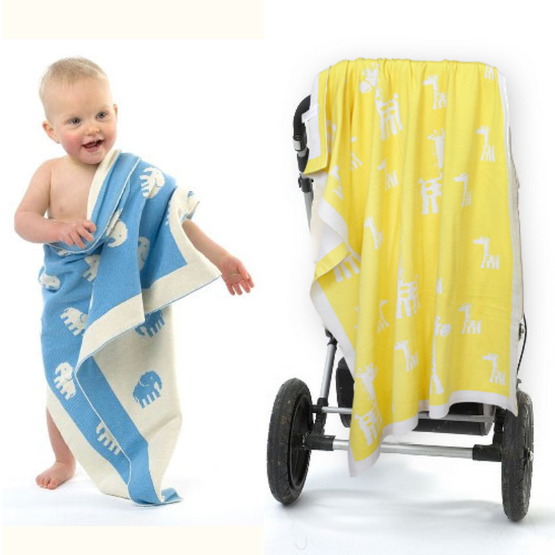 New!Baby Blanket Knitting Cute Elephant Style For Bed Sofa Wool Blanket Cobertores Mantas BedSpread Bath Towels Play Mat Gift new knitted blankets towels luxury hotels home sofa wool blanket europe leisure jacquard cotton blanket decorative bedding