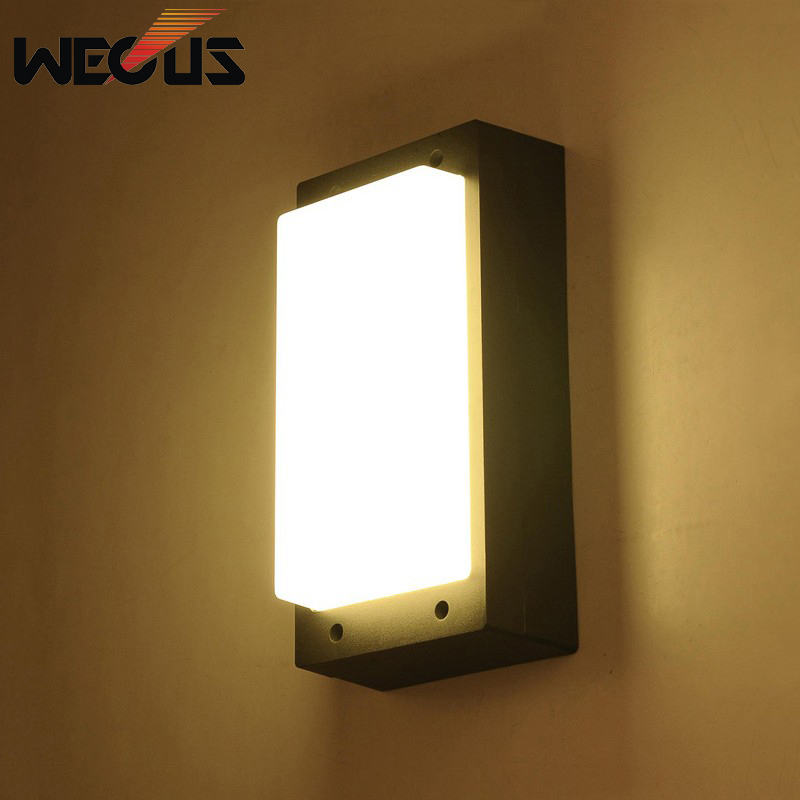 Outdoor wall lighting creative modern simple exterior lights garden villa wall sconces balcony step corridor bra street lamp