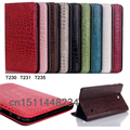 luxury Fashion crocodile leather case cover for samsung galaxy Tab 4 7.0 T230 T231 T235 Stand Smart case