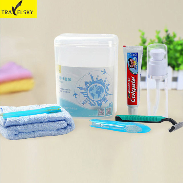 Attirant Portable Travel Toothpaste Toothbrush Storage Cup Translucent PP Toothbrush  Holder Cup Travel Set 2pcs/lot