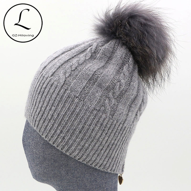 f53908646ef Winter Women s Hats With Zipper Striped Beanies Hat Women Knitted Wool  Skullies Casual Knit Hat With