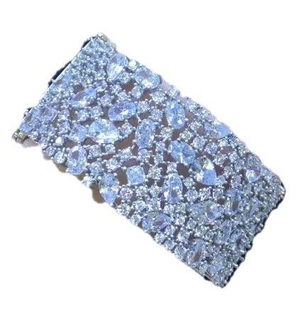sterling silver cubic zircon bracelet