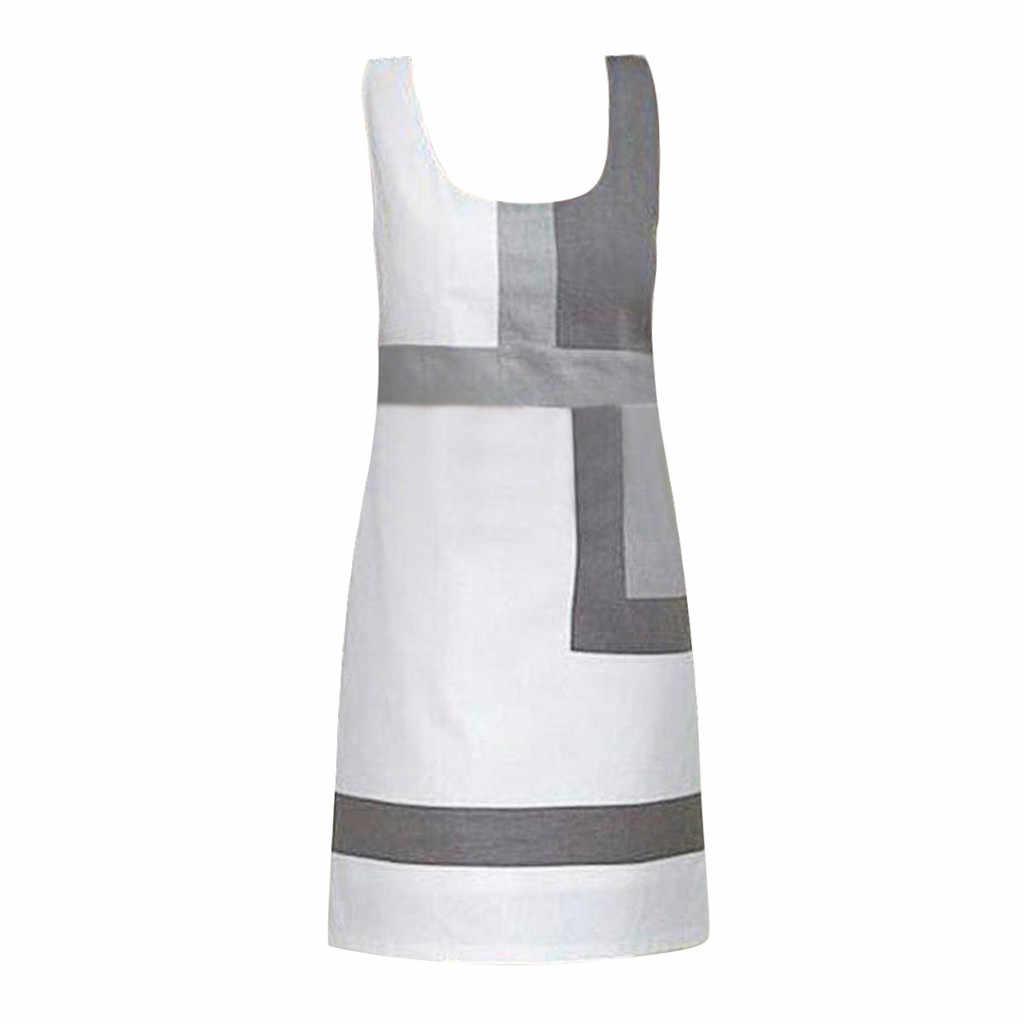 Gratuit autruche femmes robe géométrique mosaïque motif a-ligne lâche imprimé v-cou blanc à la mode tendance élégant été robe courte