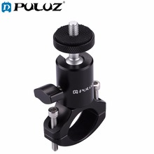 PULUZ Bike Bicycle Aluminum Handlebar Tripod Ball Head Adapter Mount for GoPro NEW HERO/HERO7/6/5/Xiaoyi/DJI OSMO Action Cameras