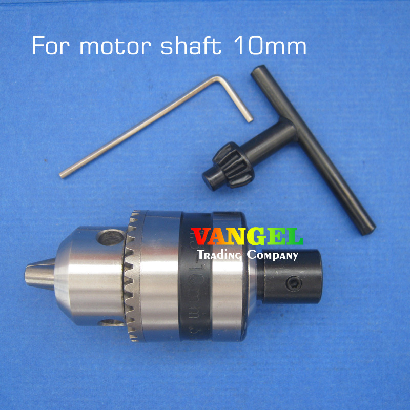 FitSain--10mm-B12 mini drill chuck B12 1.5-10mm Used for motor shaft 10mm for electric hand drill  machine tools pcb drill press fitsain ball bearing 775 motor 24v 7000rpm mini pcb hand drill press nail b10 drill chuck 0 6 6mm electric drill