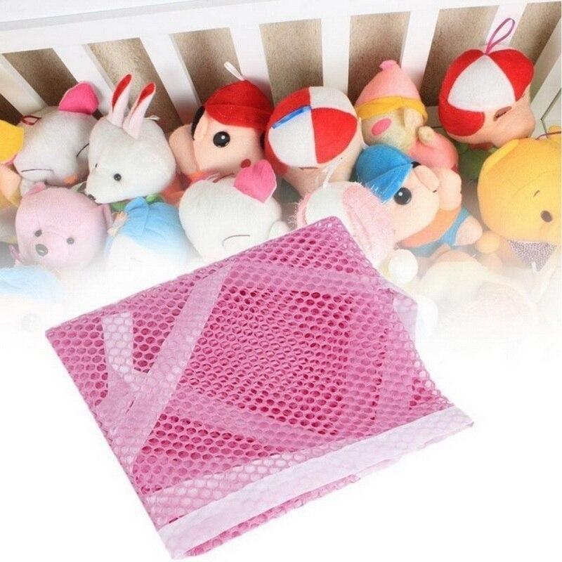 2PCS Mesh Toy Hammock Net Organizer Corner Stuffed Animals Kids Hanging Storage