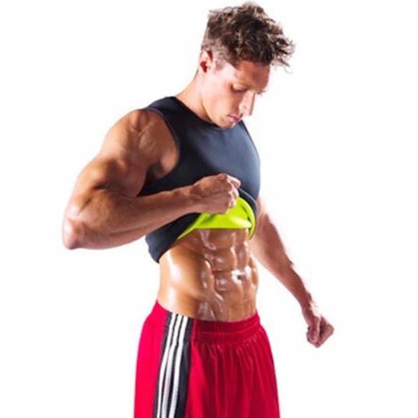 Yeni Zayıflama Gömlek Kemer Erkekler Zayıflama Yelek Vücut Şekillendirici Neopren Karın Yağ Yakma Shapewear Bel Ter Fanila Kilo Kaybı