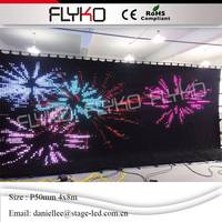 Доказательства пожара 12800 светодиодный s P5cm 4 м x 8 м светодиодный видео Шторы с от линии контроллер для DJ свадебные фоны 90 В 240 В