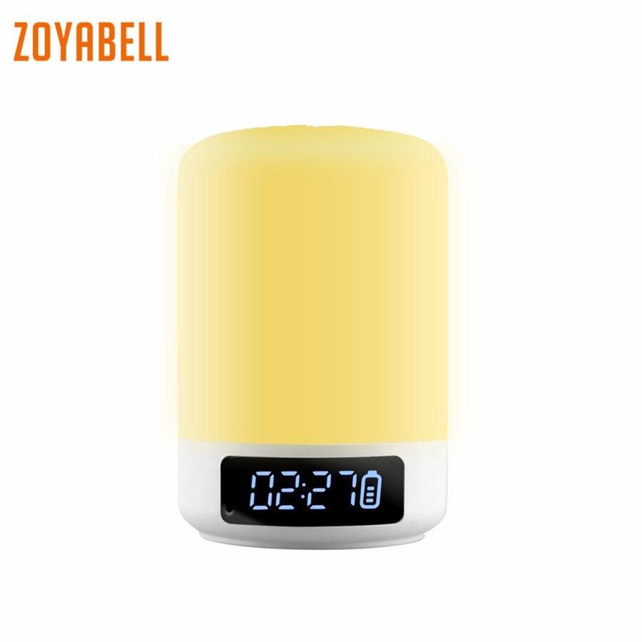 Zoyabell Led veilleuse lampe lecteur de musique sans fil TF carte haut-parleur Bluetooth Table Portable bébé enfants chambre lumière de sommeil